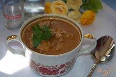«Мясо тушеное в томате с фасолью» - приготовления блюда - шаг 8