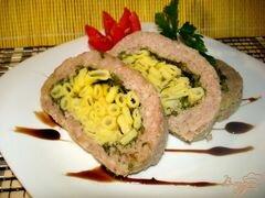 «Рулет с макаронами» - приготовления блюда - шаг 8
