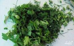 «Греческий салат с орехами» - приготовления блюда - шаг 5