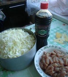 """«""""Жаренная"""" капуста» - приготовления блюда - шаг 1"""
