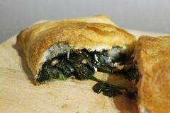 «Пирог с шпинатом и сыром» - приготовления блюда - шаг 8