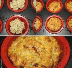 «Ржаные маффины с сыром и жаренным луком» - приготовления блюда - шаг 2