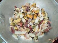 «Соус из морского коктейля к спагетти» - приготовления блюда - шаг 1