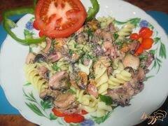 «Соус из морского коктейля к спагетти» - приготовления блюда - шаг 8