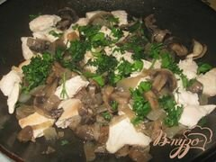 «Картофельные галушки с курицей и грибами» - приготовления блюда - шаг 3