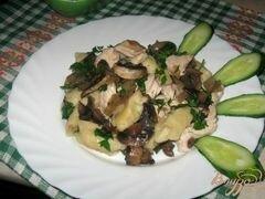 «Картофельные галушки с курицей и грибами» - приготовления блюда - шаг 7