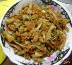 «Вешенки с морковью» - приготовления блюда - шаг 6