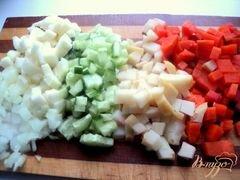 «Винегрет с фасолью и сельдью» - приготовления блюда - шаг 4