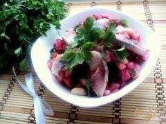 «Винегрет с фасолью и сельдью» - приготовления блюда - шаг 6