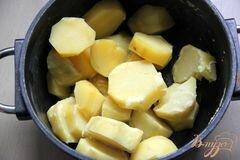 «Картофельно-сырный гарнир» - приготовления блюда - шаг 1