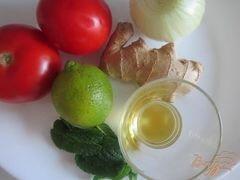«Салат из свежих помидор с имбирем» - приготовления блюда - шаг 1