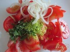 «Салат из свежих помидор с имбирем» - приготовления блюда - шаг 4
