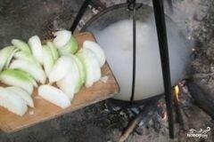 «Шурпа из говядины на костре» - приготовления блюда - шаг 4