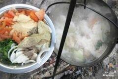 «Шурпа из говядины на костре» - приготовления блюда - шаг 6