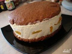 «Торт с консервированными персиками» - приготовления блюда - шаг 5