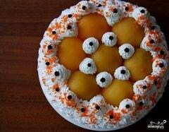 «Торт с консервированными персиками» - приготовления блюда - шаг 6