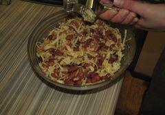 «Салат из фасоли и яблока» - приготовления блюда - шаг 4