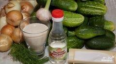 «Салат из огурцов на зиму» - приготовления блюда - шаг 1