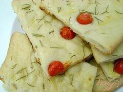 «Фокачча с томатами и розмарином» - приготовления блюда - шаг 3