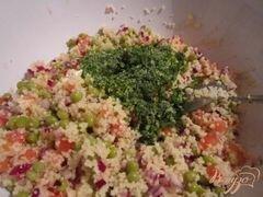 «Легкий салат с крупой» - приготовления блюда - шаг 3