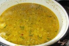 «Макаронный суп с куриными сердечками» - приготовления блюда - шаг 7