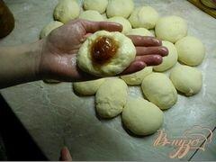 «Молочные булочки с начинкой.» - приготовления блюда - шаг 4