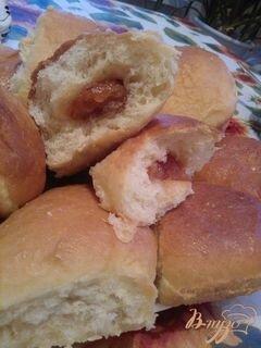 «Молочные булочки с начинкой.» - приготовления блюда - шаг 7
