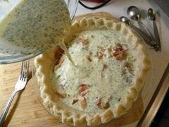 «Киш с беконом, спаржей и сыром» - приготовления блюда - шаг 15