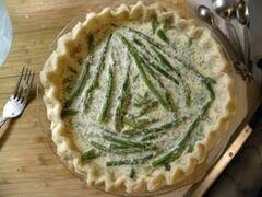 «Киш с беконом, спаржей и сыром» - приготовления блюда - шаг 16
