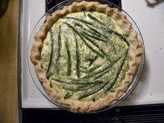 «Киш с беконом, спаржей и сыром» - приготовления блюда - шаг 17