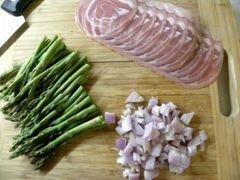 «Киш с беконом, спаржей и сыром» - приготовления блюда - шаг 8