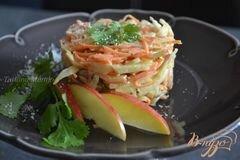 «Салат из сельдерея, моркови и грибов» - приготовления блюда - шаг 5