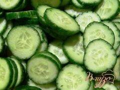 «Салат из огурцов» - приготовления блюда - шаг 2
