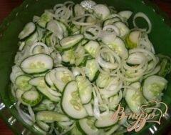 «Салат из огурцов» - приготовления блюда - шаг 4