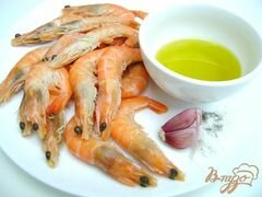 «Креветки, обжаренные в оливковом масле с чесноком» - приготовления блюда - шаг 1