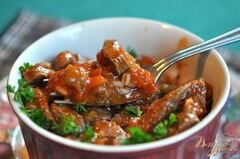 «Говядина с сальсой на сковороде» - приготовления блюда - шаг 3