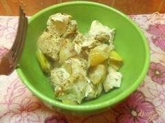 «Куриное филе в рукаве с яблоками» - приготовления блюда - шаг 6