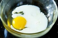 «Маффины с горошком и ветчиной» - приготовления блюда - шаг 5