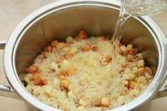 «Плов с тыквой и фруктами» - приготовления блюда - шаг 7