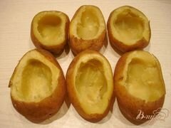 «Картофель фаршированный грибами» - приготовления блюда - шаг 3