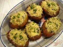 «Картофель фаршированный грибами» - приготовления блюда - шаг 8
