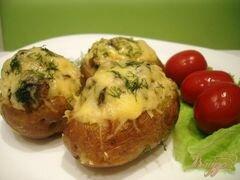 «Картофель фаршированный грибами» - приготовления блюда - шаг 9