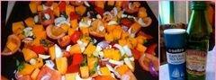 «Овощной запеченый крем-суп с тыквой и фасолью» - приготовления блюда - шаг 1