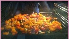 «Овощной запеченый крем-суп с тыквой и фасолью» - приготовления блюда - шаг 2