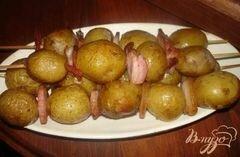 «Картофельные шашлычки» - приготовления блюда - шаг 5