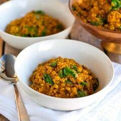 «Чечевица с пастой карри и шпинатом» - приготовления блюда - шаг 8