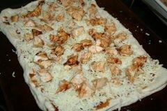 «Пицца из курицы под соусом барбекю» - приготовления блюда - шаг 3