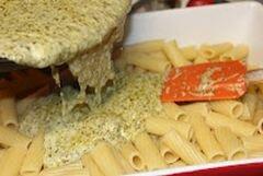 «Макаронная запеканка с соусом песто и курицей» - приготовления блюда - шаг 5
