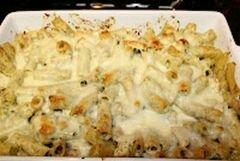 «Макаронная запеканка с соусом песто и курицей» - приготовления блюда - шаг 6