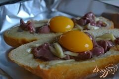 «Горячие бутерброды с утиными желудочками, яйцом и сыром» - приготовления блюда - шаг 2